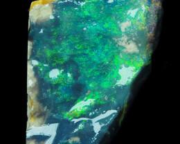 13.16 ct - Amazing Lightning Ridge Black Opal to carve, full of color!