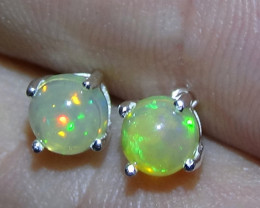 5.20 ct  Ethiopian Solid Crystal Opal Earring's
