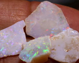 12.75 CTS  WHITE OPAL RUB  PARCEL COOBER PEDY DT-A2563
