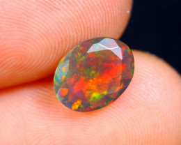 0.96cts Natural Ethiopian Faceted Smoked Opal / HM447