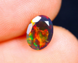 0.80cts Natural Ethiopian Faceted Smoked Opal / HM443