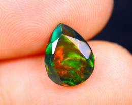 1.43cts Natural Ethiopian Faceted Smoked Opal / HM460