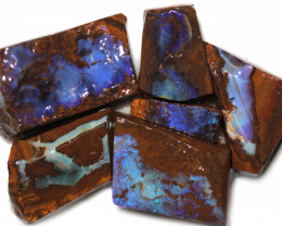 265 CTS BLUE BOULDER OPAL ROUGH -5  [PS 126]