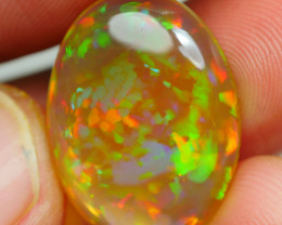 9.750 CRT DARK CRYSTAL RAINBOW PUZZLE PATTERN BEAUTY COLOR WELO OPAL-