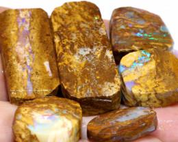 119.50 cts Jundah Boulder Opal Opalized Petrified WOOD PARCEL DT-A2636