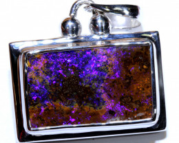 69.15 CTS BOULDER OPAL SILVER PENDANT OF-2729