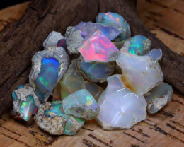 Welo Rough 60.33Ct Natural Ethiopian Play Of Color Rough Opal E0811