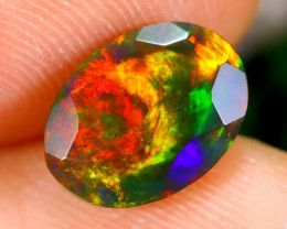 1.11cts Ethiopan Faceted Smoked opal / CR1360