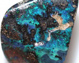 17.20 CTS DRILLED BOULDER OPAL -WELL POLISHED [BMA9750]