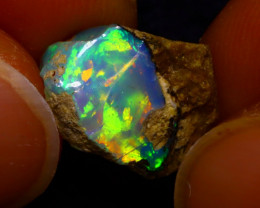 3.81Ct Multi Color Play Ethiopian Welo Opal Rough JN158/R2