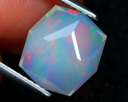 Welo Opal 2.06Ct Master Cut Natural Ethiopian Play Of Color Welo Opal F0906