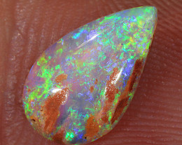 1.4ct 11x6.5mm Crystal Pipe Boulder Opal Wood Fossil  [LOB-3363]