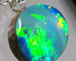 Australian Opal Pendant Solid Sterling Silver 4.9ct