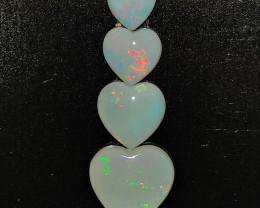 2.87 Cts Opala Solida Formato Coração