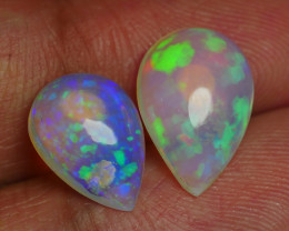 4.410 CRT BRILLIANT PAIRS FLOWER FLORAL BEAUTY PLAY COLOR WELO OPAL*
