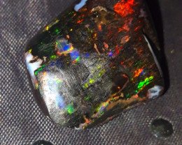 25.70 CRT GORGEUS PLAY COLOR SPECIMENT INDONESIAN OPAL WOOD FOSSIL*