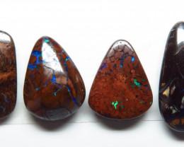 17.83ct Queensland Boulder Matrix Opal 6 Stone Parcel