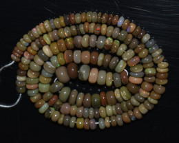 40.00 Ct Natural Ethiopian Welo Opal Beads Play Of Color OB1052