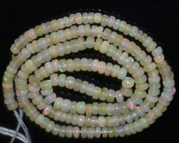 38.75 Ct Natural Ethiopian Welo Opal Beads Play Of Color OB1054