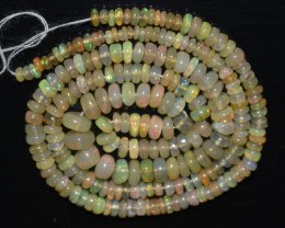35.00 Ct Natural Ethiopian Welo Opal Beads Play Of Color OB1060