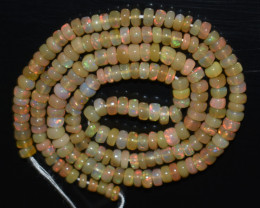 40.40 Ct Natural Ethiopian Welo Opal Beads Play Of Color OB1062