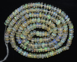 30.00 Ct Natural Ethiopian Welo Opal Beads Play Of Color OB1063