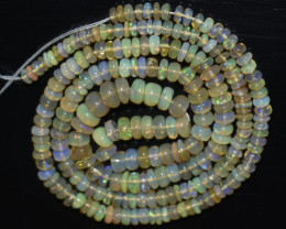 35.00 Ct Natural Ethiopian Welo Opal Beads Play Of Color OB1066