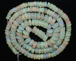 53.30 Ct Natural Ethiopian Welo Opal Beads Play Of Color OB1067