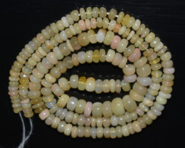 40.90 Ct Natural Ethiopian Welo Opal Beads Play Of Color OB1068