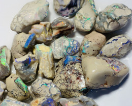 MULTICOLOUR NOBBY ROUGH OPALS - BRIGHT COLOURS #810