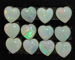 2.25 CTS Opala Lapidada Em Formato coração
