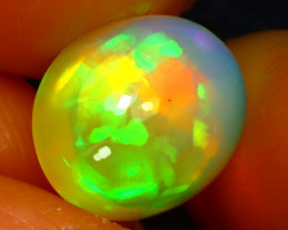 Welo Opal 3.19Ct Natural Ethiopian Play of Color Opal JR88/A44