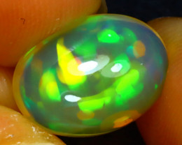 Welo Opal 4.18Ct Natural Ethiopian Play of Color Opal JR114/A44