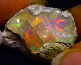 19.71Ct Multi Color Play Ethiopian Welo Opal Rough JR127/R3