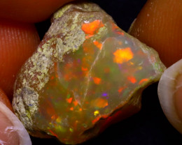 15.44Ct Multi Color Play Ethiopian Welo Opal Rough JR134/R3