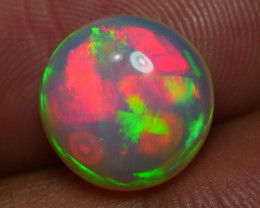 3.065 CRT WONDERFULL ROUND BROADFLASH PATTERN BEAUTY COLOR WELO OPAL-