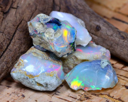Welo Rough 35.56Ct Natural Ethiopian Play Of Color Rough Opal D1501