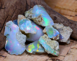 Welo Rough 35.20Ct Natural Ethiopian Play Of Color Rough Opal D1507