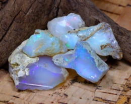 Welo Rough 34.91Ct Natural Ethiopian Play Of Color Rough Opal D1508