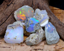 Welo Rough 36.90Ct Natural Ethiopian Play Of Color Rough Opal F1506