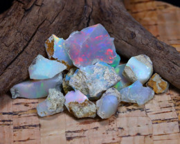 Welo Rough 32.41Ct Natural Ethiopian Play Of Color Rough Opal F1509