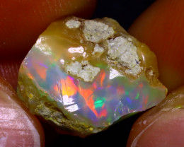 8.40Ct Multi Color Play Ethiopian Welo Opal Rough JF1804/R2