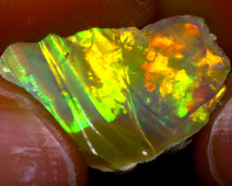 7.09Ct Multi Color Play Ethiopian Welo Opal Rough JF1809/R2