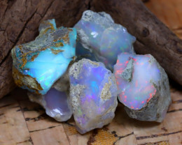 Welo Rough 41.49Ct Natural Ethiopian Play Of Color Rough Opal D1401