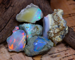 Welo Rough 41.55Ct Natural Ethiopian Play Of Color Rough Opal D1402