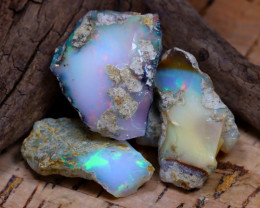 Welo Rough 40.55Ct Natural Ethiopian Play Of Color Rough Opal D1407