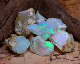 Welo Rough 34.26Ct Natural Ethiopian Play Of Color Rough Opal F1406