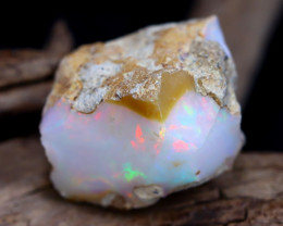 Welo Rough 27.18Ct Natural Ethiopian Play Of Color Rough Opal E1401