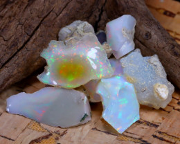 Welo Rough 35.91Ct Natural Ethiopian Play Of Color Rough Opal E1411