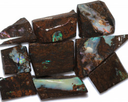 $10 EACH 275 CTS WOOD FOSSIL ROUGH OPAL PARCEL-MINED IN JUNDAH [BY9222]